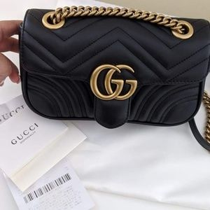 Gucci marmont black mini